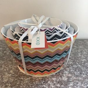 Missoni for Target Zig Zag Ceramic Bowls Set of 3